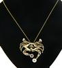 Cute Crab with Moissanite and Pearl Pendant Necklace