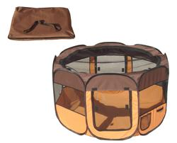 Easy Folding Wire-Framed Collapsible Travel Pet Playpen- LARGE