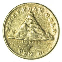 1860 $10.00 Clark Gruber & Co. Colorado Gold