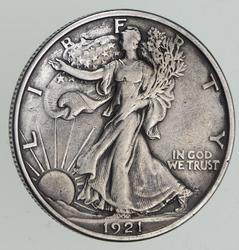 1921-S Walking Liberty Half Dollar - Sharp
