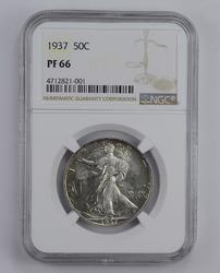 PF66 1937 Walking Liberty Half Dollar - Graded NGC