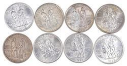 Lot (8) 1934 1935 & 1936 Boone Commem. Half Dollars - Unc