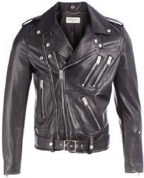 Men's Lamb Nappa  Classic Biker Leather Jacket - XL