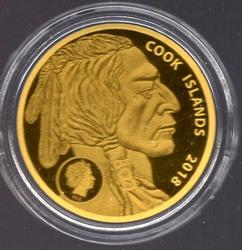 2018 Cook Islands $5 Gold Coin in Custom Box