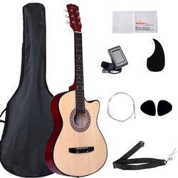ADM 38 Inch Acoustic Guitar Cutaway 6 Steel Strings for Beginner