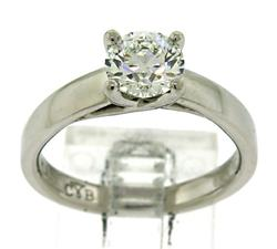 Platinum 1.36ctw Diamond Engagement Ring
