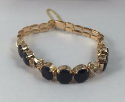 Fancy 18kt Gold Sapphire & Diamond Bracelet