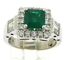 Sparkling Emerald and Diamond Ring