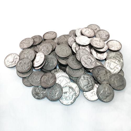 90% Silver Franklin Halves 100 pcs.