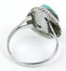 Vintage Large Turquoise Sterling Silver Ring