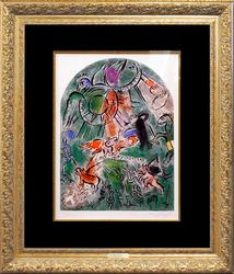 Rare Large Chagall Hand Signed Original Lithograph