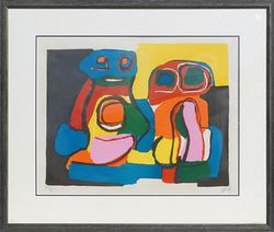Karel Appel Rare Hand Signed Color Lithograph