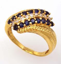 Sapphire & Diamond Ring, Size 8