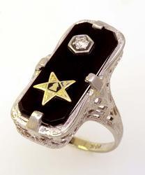 Eastern Star Masonic Ring, Size 5
