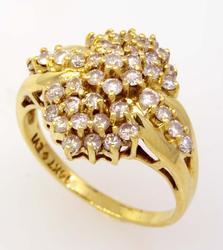 Shining Diamond Cluster Ring, Size 6.75