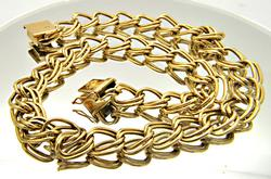 LADIES 18 KT YELLOW GOLD LARGE LINK CHAIN.