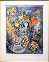 Marc Chagall 'Bella' Color Offset Lithograph