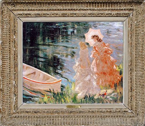 Antique Louis Icart Original Oil On Canvas