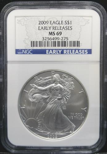 Certified 2009 Silver Eagle NGC MS69  ER
