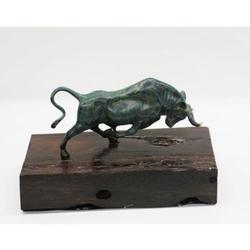 Bronze Abstract Bronze Bull Horns Statue Figurine