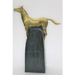 Handcrafted Gorgeous Bust Horse Bronze Sculpture