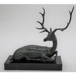 Special Patina Deer Bronze Sculpture