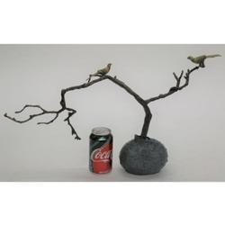 Love Birds Bronze Sculpture on Marble Base Figurine
