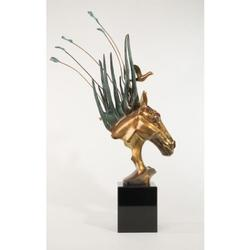 Stunning Horse Head Bust Bronze Sculpture