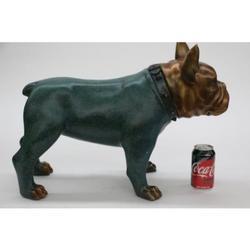 Bulldog 100% Solid Bronze and Copper Sculpture