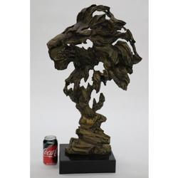 Abstract Modern Art Mountain Lion Bronze Sculpture