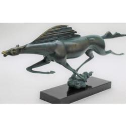 Modern Art Abstract Sleek Horse Bronze Sculpture