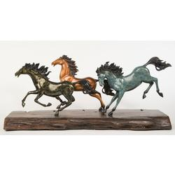 Roaming Horses Bronze Sculpture