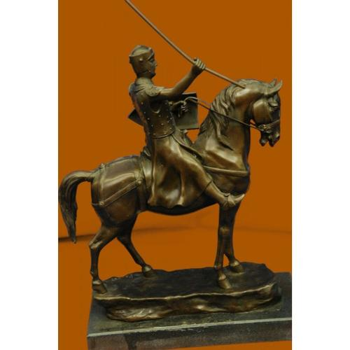 Brave Medieval Knight Warrior Bronze Sculpture