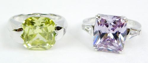 2 Vibrant Quartz Sterling Rings