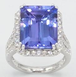 Tanzanite & Diamond Cocktail Ring in Platinum