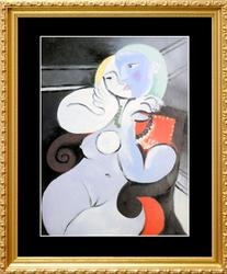 Pablo Picasso, Nude Woman In A Red Chair