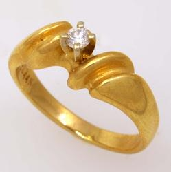Gold Ring with Diamond, Size 5