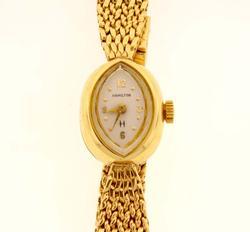 Ladies Gold Hamilton Watch