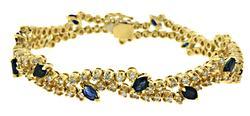 Gorgeous Blue Sapphire and Diamond Bracelet