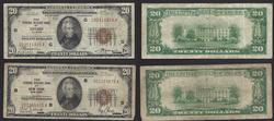 $20 1929 FRBN from Chicago and New York