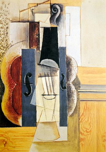 Pablo Picasso Violin Hanging On A Wall Usauctiononline Com
