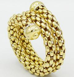 18kt Yellow Gold Diamond Wrap Bracelet