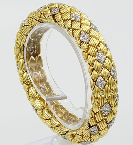 Platinum and 18kt Yellow Diamond Bracelet