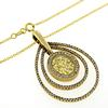 Beautiful Yellow Sapphire and Diamond Pendant Necklace