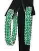 18kt Natural Emerald Hoop Earrings