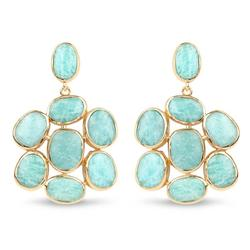 25+ CTW Amazonite Gemstone Earrings