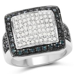 Ladies Sterling Silver and Diamond Ring