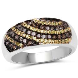 Genuine Yellow and Champagne Diamond Ring