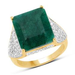 9.0 Carat Emerald & Topaz Cocktail Ring