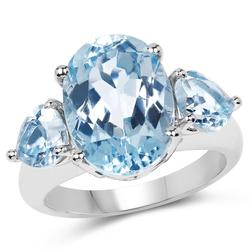 Beautiful Blue Topaz Cocktail Ring